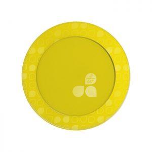 Prato Festa Redondo 15cm Linha Gold – Amarelo
