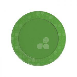 Prato Festa Redondo 15cm Linha Gold – Verde
