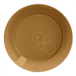 Prato Refeição Redondo 21cm Linha Gold – Dourado