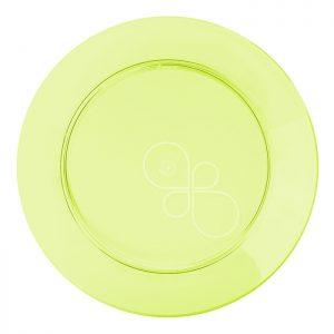 Prato Refeição Redondo 21cm Linha Gold – Verde Neon