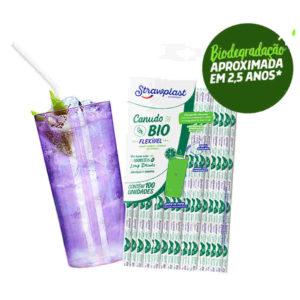 Canudo Bio Flexível c/ 100 und