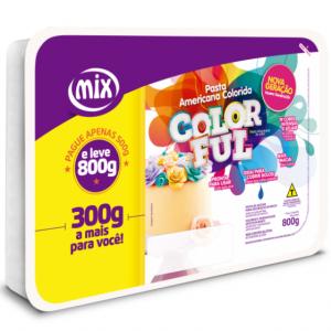Pasta Americana Colorida Color Ful Mix 800g