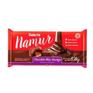 Chocolate Selecta Namur Meio Amargo 1,01Kg