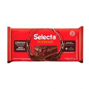 Selecta Supreme Cobertura Sabor Chocolate Meio Amargo 1,01Kg