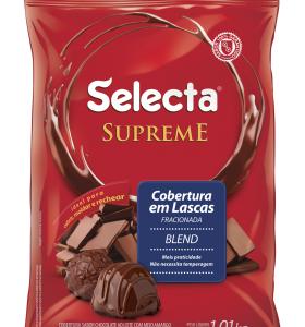 Selecta Supreme Cobertura em Lascas Sabor Chocolate Blend 1,01KG