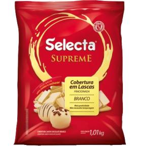 Selecta Supreme Cobertura em Lascas Sabor Chocolate Branco 1,01Kg
