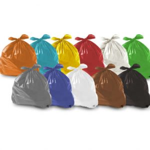 Saco de lixo em pacotes