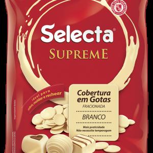 Selecta Supreme Cobertura em Gotas Chocolate Branco 1,01Kg