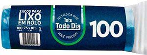 Saco de lixo 100L Azul c/5