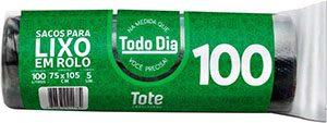 Saco de lixo 100L Preto c/5