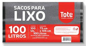 Saco de lixo Extra Reforçado 100L fardo c/ 100 preto