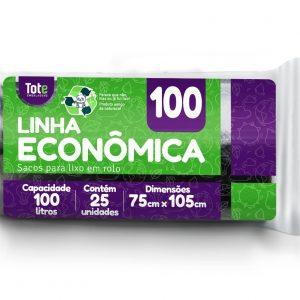 Saco Para Lixo em Rolo 100 litros (Linha Econômica)