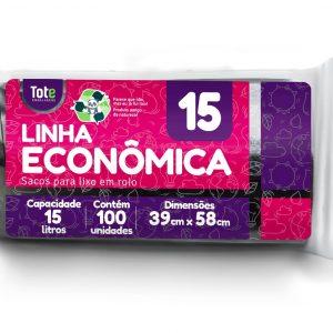 Saco Para Lixo em Rolo 15 litros (Linha Econômica)
