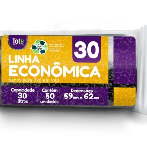 Saco Para Lixo em Rolo 30 litros (Linha Econômica)