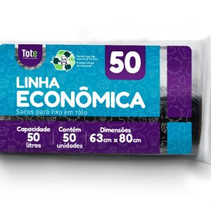 Saco Para Lixo em Rolo 50 litros (Linha Econômica)